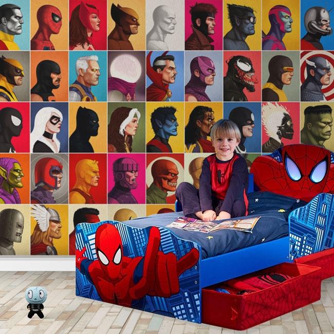 Peintures murales en vinyle marvel