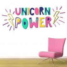 Vinyles décoratifs unicorn power