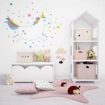 Vinyles décoratifs licorne avec des étoiles