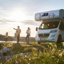 Autocollants camping-car électrocardiogramme l'amour