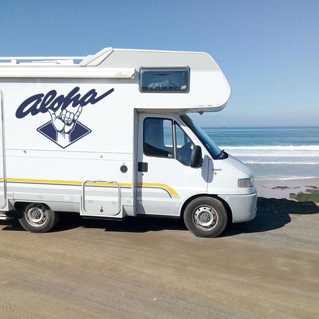 Vinyle et autocollants camping-cars aloha