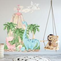 Vinyles décoratifs dinosaures pour les bébés