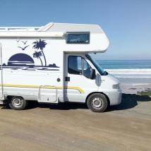 Vinyles décoratifs camping-cars coucher de soleil sur la plage
