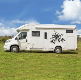 Vinyles camping-cars rose des vents et des montagnes