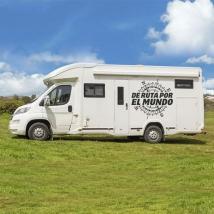 Camping-cars vinyles rose des vents de route autour du monde