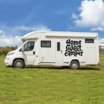 Autocollants camping-car phrase home sweet camper