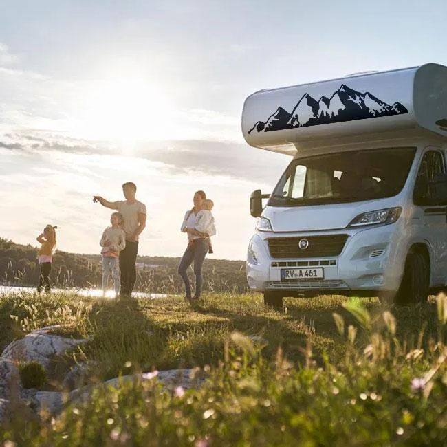 Vinyles décoratifs et autocollants camping-cars montagnes