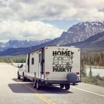 Autocollants de phrases en anglais pour caravanes
