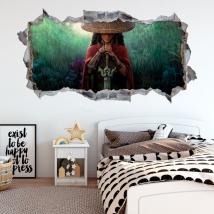 Vinyles décoratifs trou 3d raya et le dernier dragon