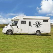 Vinyles et autocollants rose des vents pour camping-car