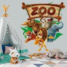 Vinyles et autocollants animaux de zoo