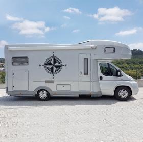 Vinyles rose des vents pour camping-cars