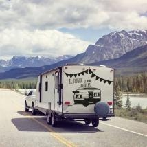 Vinyles et autocollants caravanes phrase la maison est l'endroit où vous vous garez