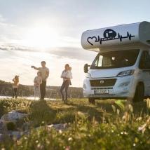 Autocollants camping-car électrocardiogramme coeur
