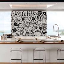 Vinyles décoratifs phrases amateurs de café