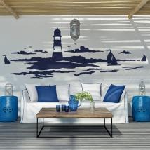 Vinyles décoratifs et autocollants phare en mer