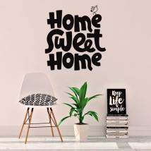 Vinyle avec la phrase anglaise home sweet home