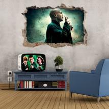 Vinyle 3d lord voldemort harry potter et la pierre philosophale