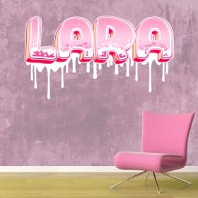 Vinyles décoratifs noms personnalisés effet graffiti