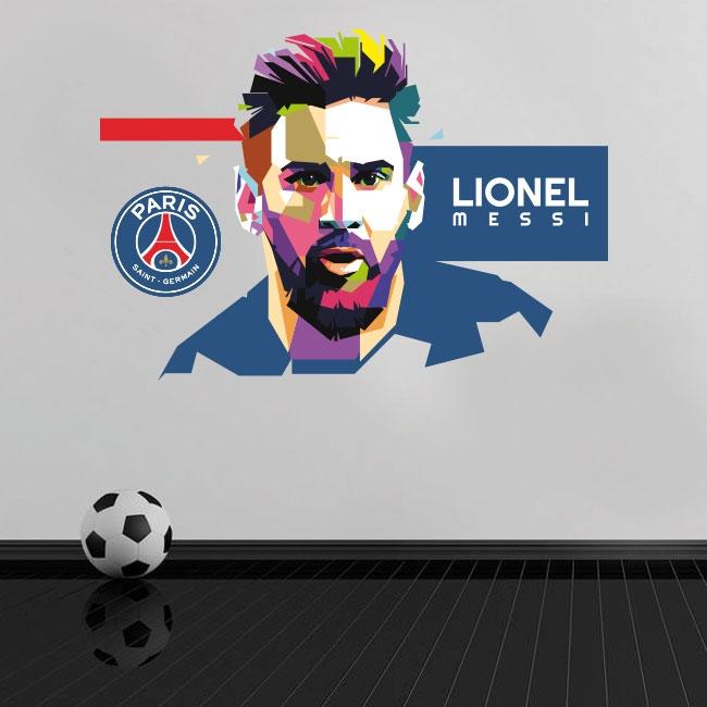 Vinyles lionel messi paris saint-germain football