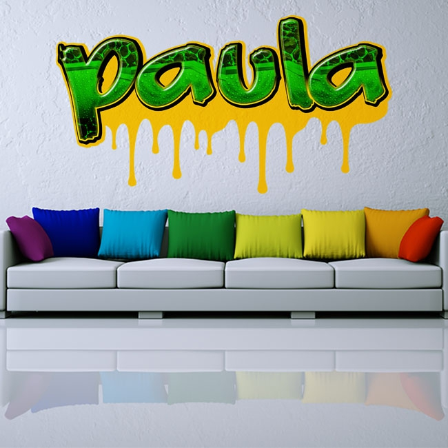 Vinyles décoratifs graffiti noms personnalisés