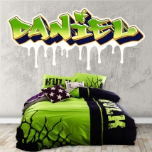 Vinyles et autocollants textes personnalisés effet graffiti