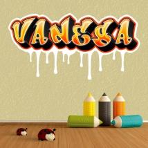 Autocollants graffiti noms personnalisés