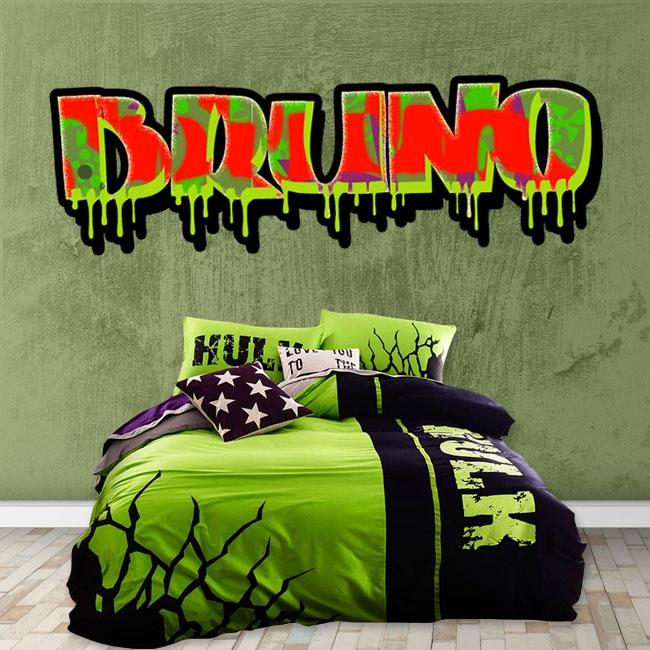 Vinyle effet graffiti avec nom personnalisé
