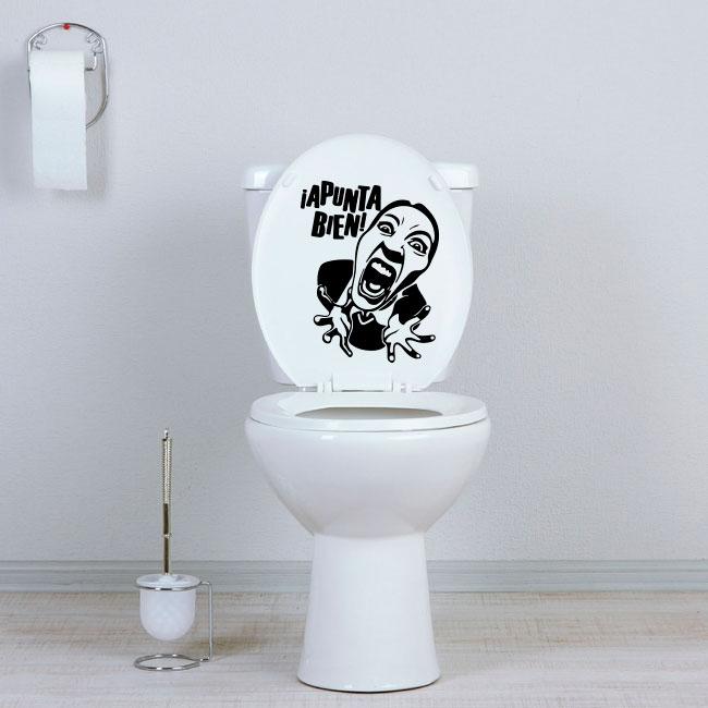 Vinyles couverture de toilette bien viser
