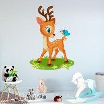 Vinyles pour enfants bambi et papillon