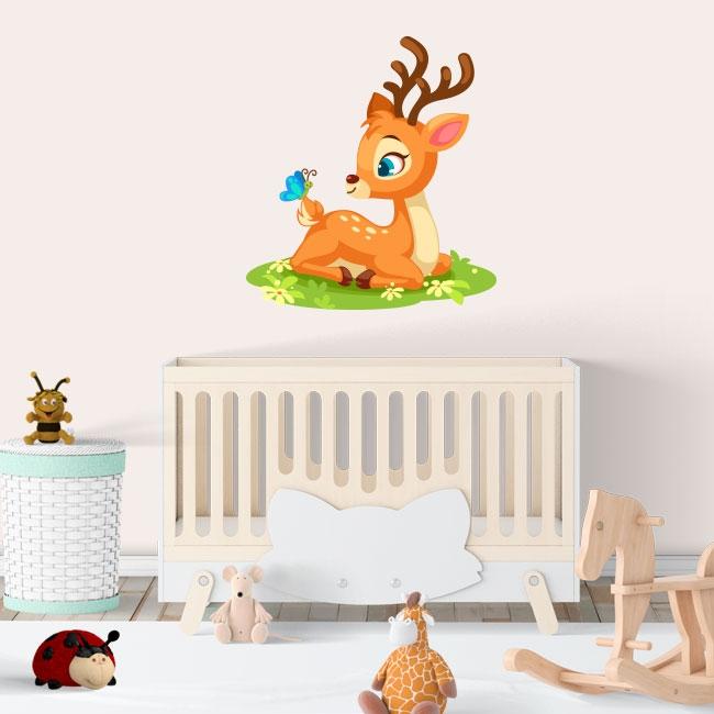 Vinyles infantile ou pour les bébés bambi et papillon