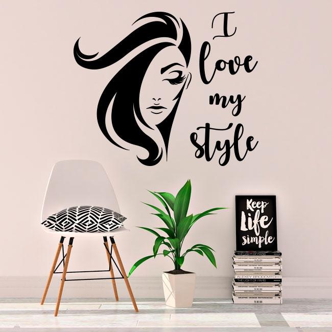 Vinyles et autocollants visage de femme i love my style