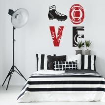 Vinyles décoratifs et autocollants love rugby