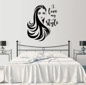 Vinyles visage de femme i love my style