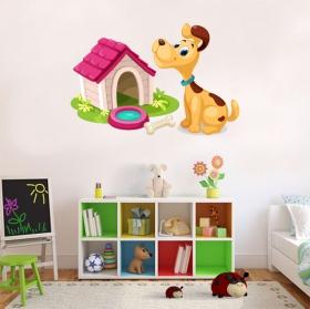 Vinyles pour enfants chien à la maison