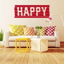 Vinyles décoratifs et autocollants happy