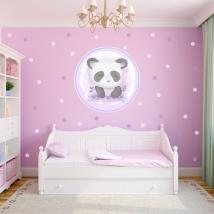 Vinyles jeunesse ou enfants ours panda