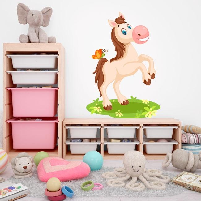 Vinyles pour enfants cheval et papillon