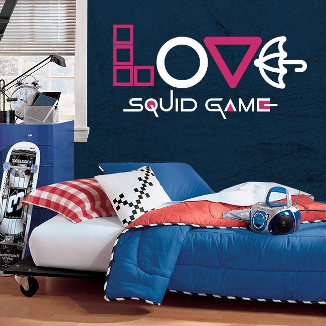 Vinyles décoratifs et autocollants netflix love squid game