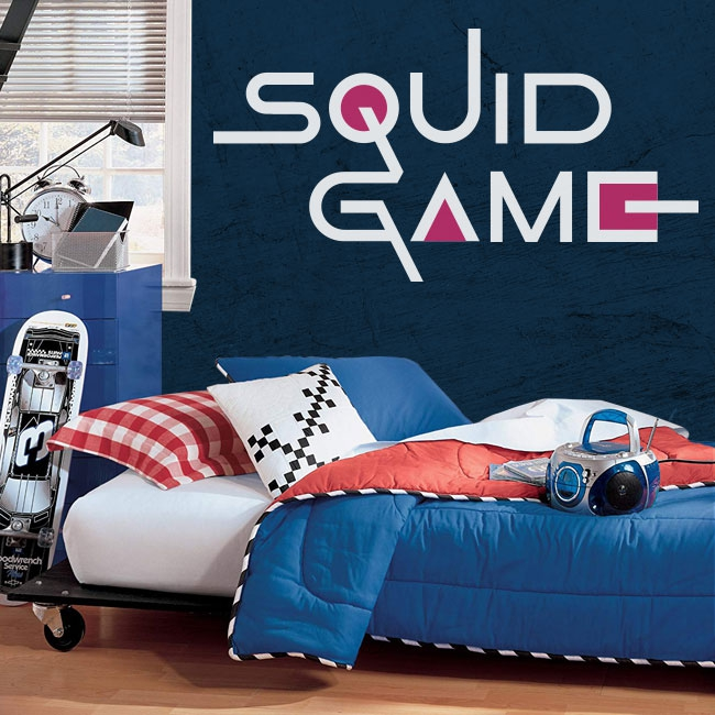 Vinyles décoratifs et autocollants netflix squid game