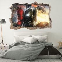 Vinyles décoratifs 3d marvel spiderman et venom