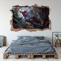 Vinyle 3d marvel illustration spider-man et venom