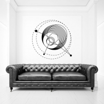 Vinyles décoratifs avec des traits et des cercles