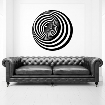 Vinyles décoratifs cercles à effet optique